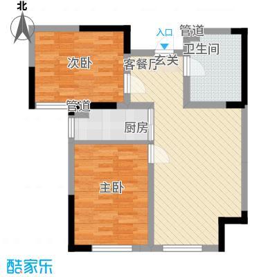 万炬智汇城一期国际公寓C区标准层D户型