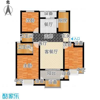华府御墅洋房12、13号楼1层C2-1户型
