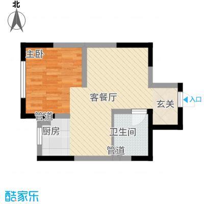 万炬智汇城一期国际公寓C区标准层B户型