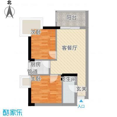 昌北财大宿舍56.00㎡户型2室