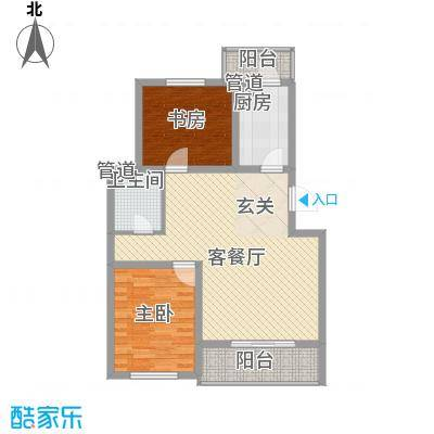 燕宇艺术家园户型2室2厅
