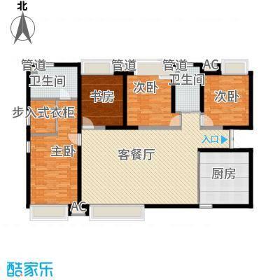 振业城中央174.00㎡高层1号楼标准层G户型4室2厅2卫1厨