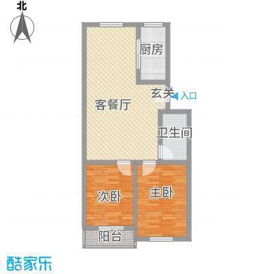 翠阜新村户型2室2厅1卫1厨