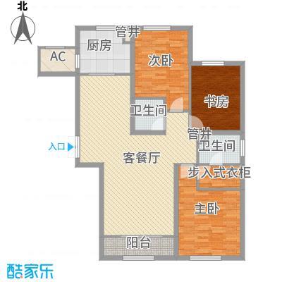 金地紫云庭14.00㎡户型3室