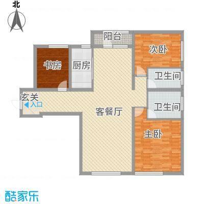 保利香槟国际165.80㎡1、2号楼标准层A2户型3室2厅2卫