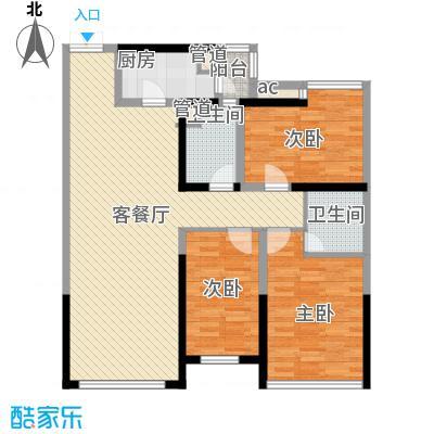 玉泉北里户型3室2厅2卫1厨