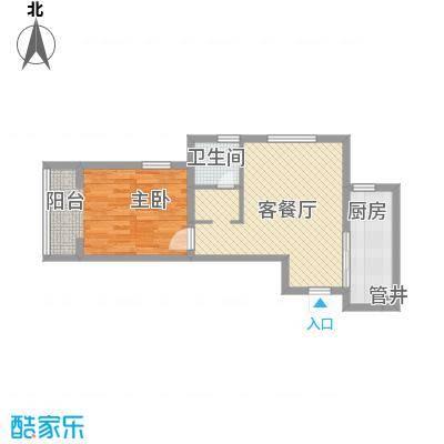 奥林匹克花园65.20㎡18层Ha户型1室1厅1卫