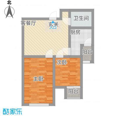 唐山里户型2室1厅1卫1厨