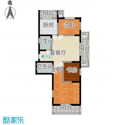 心源家园13.30㎡1、2号楼标准层G户型3室1厅2卫