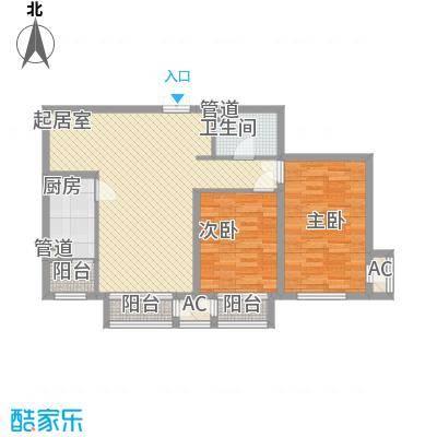 龙城帝景A3号楼标准层D户型