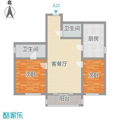 湘江名苑11.78㎡1户型2室1厅2卫1厨