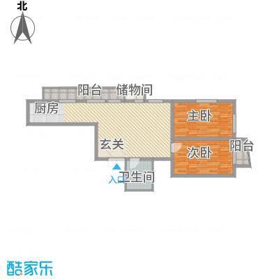 鑫隆帝豪11.20㎡户型2室2厅1卫
