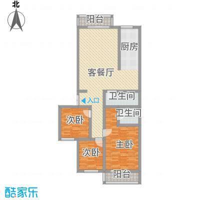 卓越方舟153.00㎡D户型3室2厅2卫1厨