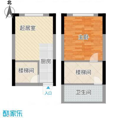 筑石银座31.23㎡B12a户型1室1厅1卫1厨