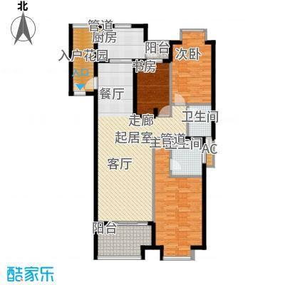 滨河新天地125.00㎡一期高层c户型3室2厅2卫1厨