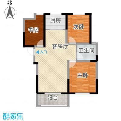 诚德盛世原著128.00㎡一期高层C3-02户型3室2厅1卫1厨
