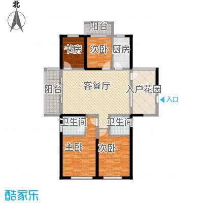 诚德盛世原著155.00㎡一期高层D1-02户型4室2厅1卫1厨