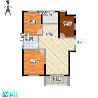诚德盛世原著117.00㎡一期高层A3-02户型3室2厅1卫1厨
