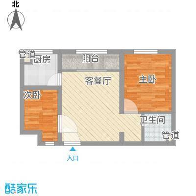 龙凤花园58.00㎡一期高层C户型