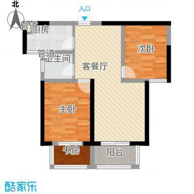诚德盛世原著85.00㎡一期高层B3-02户型2室2厅1卫1厨