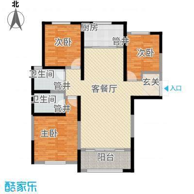 圣兰菲诺二期高层17-B3户型3室2厅2卫1厨