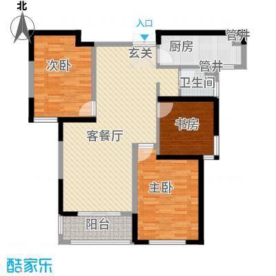 圣兰菲诺二期高层17-B2户型3室2厅2卫1厨