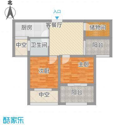 荣昌绿园77.70㎡二期高层B户型2室1厅1卫1厨