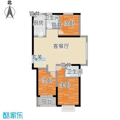 圣兰菲诺一期高层27-A1户型3室2厅2卫1厨
