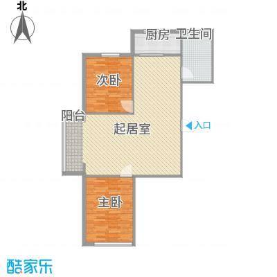 嘉寓观山11.84㎡一期1号楼高层标准层D1户型2室2厅1卫