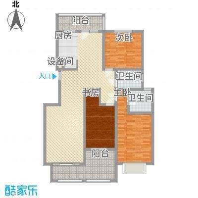 银河龙门花园157.50㎡二期D2-D4号楼D户型3室2厅2卫1厨