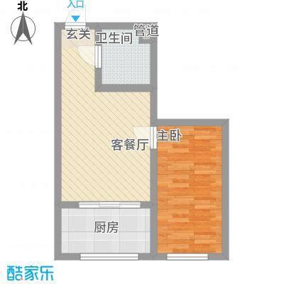 江华丽景55.40㎡F5户型1室1厅1卫