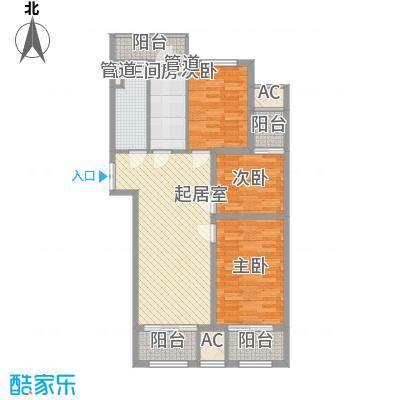 欧韵峰尚114.00㎡一期高层C户型