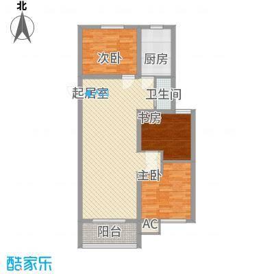 未来城一期C6户型3室2厅1卫1厨