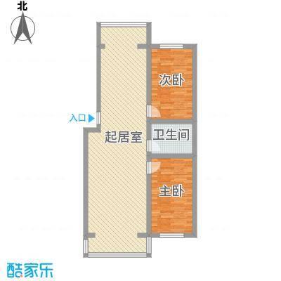 伊江丽景花园5.00㎡户型2室2厅1卫1厨