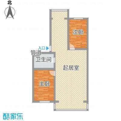 伊江丽景花园115.00㎡户型2室2厅1卫1厨