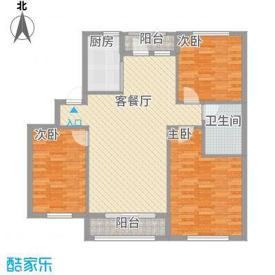 朗润大厦112.00㎡户型3室2厅1卫1厨