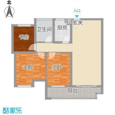 联合世纪新筑玫瑰园112.00㎡B户型3室2厅1卫1厨
