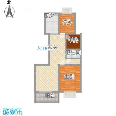 冠蒙・阳光新城12.00㎡4号楼户型3室2厅1卫1厨