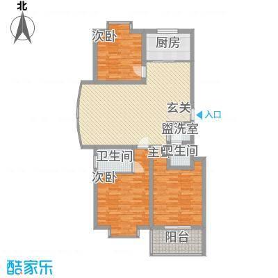 冠蒙・阳光新城123.80㎡16号楼户型3室2厅2卫1厨