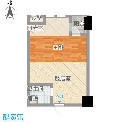 大润发广场5.21㎡(新)公寓A3户型1室1厅1卫1厨
