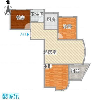 圣博・未来城16.00㎡1#3#4#7#楼标准层经济三居户型3室2厅1卫1厨