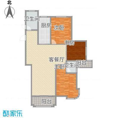 圣博・未来城165.00㎡6#楼标准层户型3室2厅2卫1厨