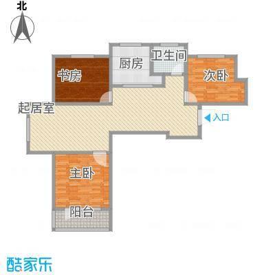 圣博・未来城128.00㎡5#楼标准层西户户型3室2厅1卫1厨