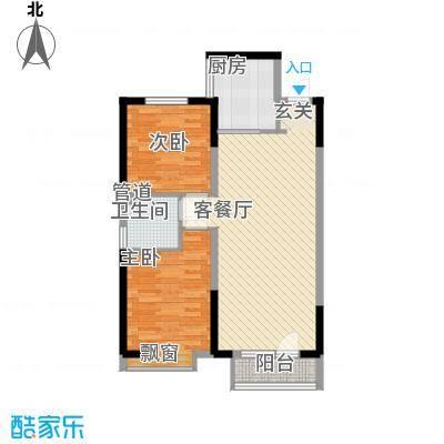 华润中心凯旋门15.00㎡5#楼标准层2D户型2室2厅1卫1厨