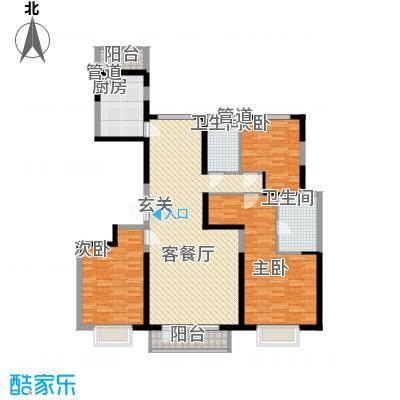 华润中心凯旋门16.00㎡5#楼标准层3B户型3室2厅2卫1厨