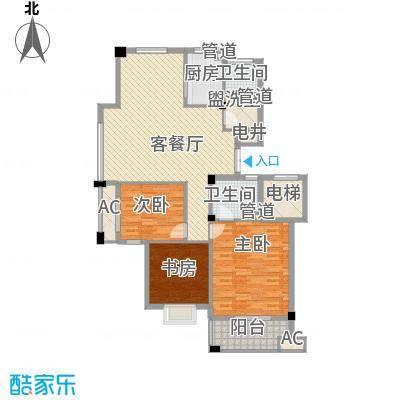 江南世家127.00㎡一期454749#楼小高层A1户型3室2厅2卫1厨