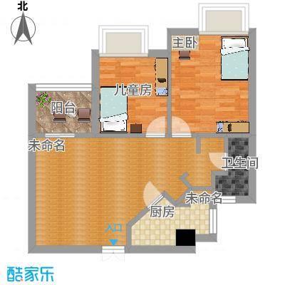 金桥水岸花园80平户型两室两厅-副本