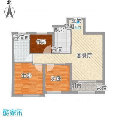 雍鑫红星华府高层62、63、66号楼标准层C3户型