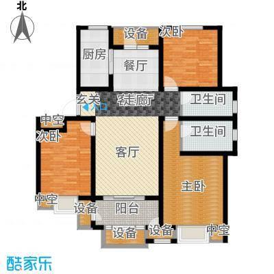华府御墅洋房12、13、22、23、24号楼1层C1-1户型