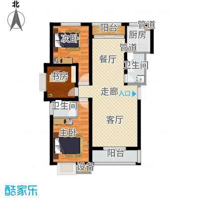 凯旋国际广场92.20㎡B户型 2室2厅1卫1厨户型2室2厅1卫-副本